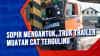 Sopir Mengantuk, Truk Trailer Muatan Cat Terguling