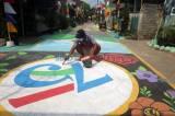 Meriahkan HUT RI ke-75, Warga Hias Jalan dengan Lukisan 3D