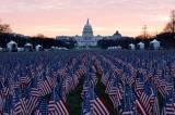 Ribuan Bendera AS Berbaris di Gedung Capitol Sambut Pelantikan Joe Biden