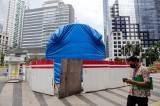 Progres Pembangunan Tugu Sepeda Capai 90 Persen