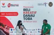 Wamen Parekraf Sukseskan Launching Gerakan Beli Kreatif Danau Toba di Balige, Kabuputen Toba