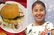 Viral! Wanita Ini Makan Hamburger Berisi Jari Manusia dan Sempat Mengunyahnya