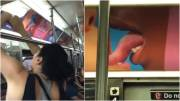 Viral! Wanita Robek-robek Iklan LGBTQ dan Pergaulan Bebas di Kereta New York