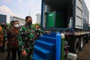 TNI AL Terima Bantuan 1.440 Tabung dan 2 Generator Oksigen
