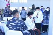 KSAL Dampingi Wapres RI Tinjau Serbuan Vaksinasi di Ponpes An Nawawi Tanara Banten