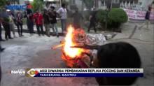 Demo Didepan Kantor ATR BPN Kota Tangerang Berakhir Ricuh