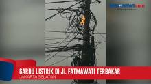 Diguyur Hujan Deras, Panel Gardu Listrik di Fatmawati Terbakar