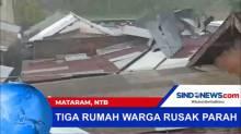 Angin Puting Beliung Terjang Rumah Warga di Mataram