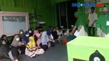 Hadrah Anak Yayasan Nurum Qulub Sambut Kegiatan Bagi Santunan Baja Perindo