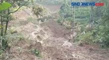 Tebing Setinggi 75 Meter Longsor, 5 Rumah Tertimbun di Cianjur