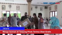 Warga Isoman di Tanjung Priok Terima Obat Gratis