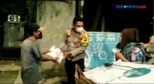 Polsek Kebayoran Baru Gelar Patroli Skala Besar dan Bagikan Sembako