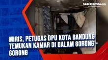 Miris, Petugas DPU Kota Bandung Temukan Kamar di Dalam Gorong - Gorong
