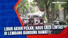 Libur Akhir Pekan, Arus Lalu Lintas di Lembang Bandung Ramai
