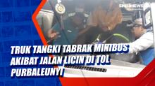 Truk Tangki Tabrak Minibus akibat Jalan Licin di Tol Purbaleunyi