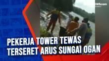 Pekerja Tower Tewas Terseret Arus Sungai Ogan
