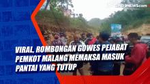 Viral, Rombongan Gowes Pejabat Pemkot Malang Memaksa Masuk Pantai yang Tutup