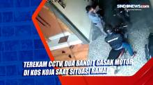 Terekam CCTV, Dua Bandit Gasak Motor di Kos Koja saat Situasi Ramai