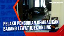 Pelaku Pencurian Kembalikan Barang Lewat Ojek Online