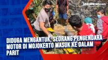 Diduga Mengantuk, Seorang Pengendara Motor di Mojokerto Masuk ke Dalam Parit