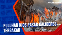 Puluhan Kios Pasar Kalideres Terbakar
