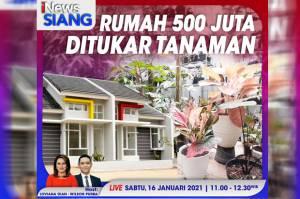 iNews Siang Live di iNews dan RCTI+ Sabtu Pukul 11.00: Rumah Rp500 Juta Ditukar Tanaman Hias