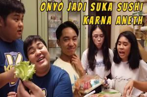 Kenta Yamaguchi Bikin Sushi Bareng Anneth dan Alifa, Enak Nggak Nih?