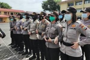 Puluhan Polwan Pelototi 7 Titik Keramaian di Kota Bogor