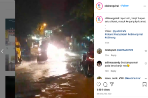 Cibinong Bogor Dikepung Banjir, Pakansari hingga ITC Terendam Setinggi Lutut