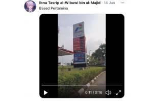 Viral, Running Teks SPBU Cibinong Ya Ndak Tau Kok Tanya Saya?