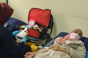 Sambut HUT Ke-494 DKI, Kecamatan Tanah Abang Gelar Donor