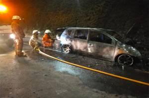 Mobil Terbakar di Pintu Keluar Tol Cilandak, Pengemudi Luka Bakar