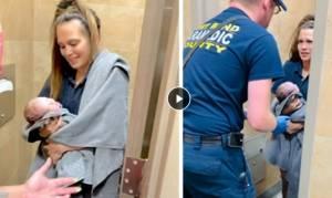 Luar Biasa! Wanita Ini Lahirkan Bayi Sendirian di Toilet SPBU Rest Area