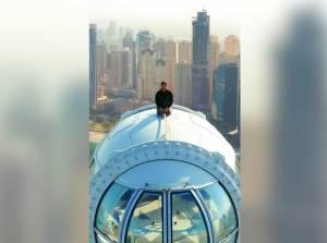 Ini Baru Jos, Putra Mahkota Dubai Seruput Kopi di Atas Pod Roda Tertinggi di Dunia