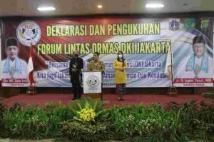 Forum Lintas Ormas DKI Dikukuhkan, Wagub Ariza: Bantu Jaga Stabilitas Jakarta
