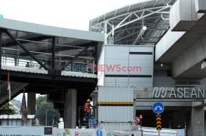 Skybridge Interkoneksi MRT ASEAN-TransJakarta CSW Hampir Rampung