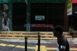 PSBB Diperpanjang, Pertokoan di Panglima Polim Tutup Sementara