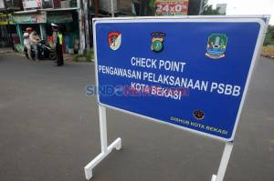 Petugas Gabungan Gelar Razia Pelaksanaan PSBB dan Pemudik