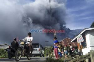 Gunung Sinabung Kembali Erupsi, Warga Diimbau Tak Beraktivitas di Desa yang Telah Direlokasi
