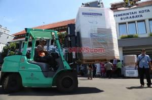 Bantu Penanganan Covid-19, Wings Surya Kirim Bantuan 4 Unit Swab Station Untuk Pemkot Surabaya