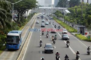 Hari Pertama PSBB Total Jakarta, Jalan Sudirman Lancar di Jam Sibuk