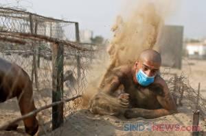 Palestina Gelar Latihan Anggota Polisi Baru di Tengah Pandemi