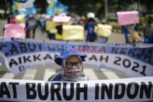 Gabungan Serikat Buruh Indonesia Tuntut Pemerintah Cabut UU Cipta Kerja