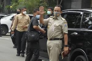 Tiba di Polda Metro Jaya, Gubernur Anies Siap Klarifikasi Soal Pelanggaran Protokol Kesehatan di Acara Habib Rizieq