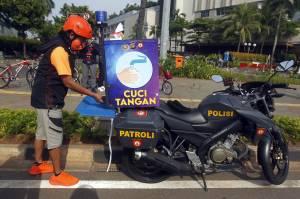 Unik, Motor Samapta Polda Metro Jaya ini Dilengkapi Wastafel Portable