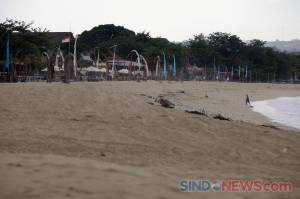 Begini Penampakan Pantai Jimbaran di Kala Sepi Akibat Pandemi