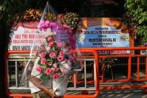Tri Rismaharini Jadi Mensos, Rumah Dinas Walikota Surabaya Dibanjiri Karangan Bunga