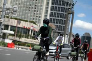 Libur Natal, Warga Jakarta Bersepeda untuk Tingkatkan Imun Tubuh
