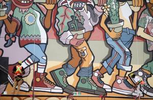 Pembuatan Mural Converse City Forest