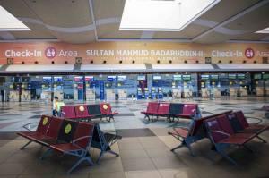 Hari Pertama Larangan Mudik, Bandara SMB II Palembang Sepi Penumpang